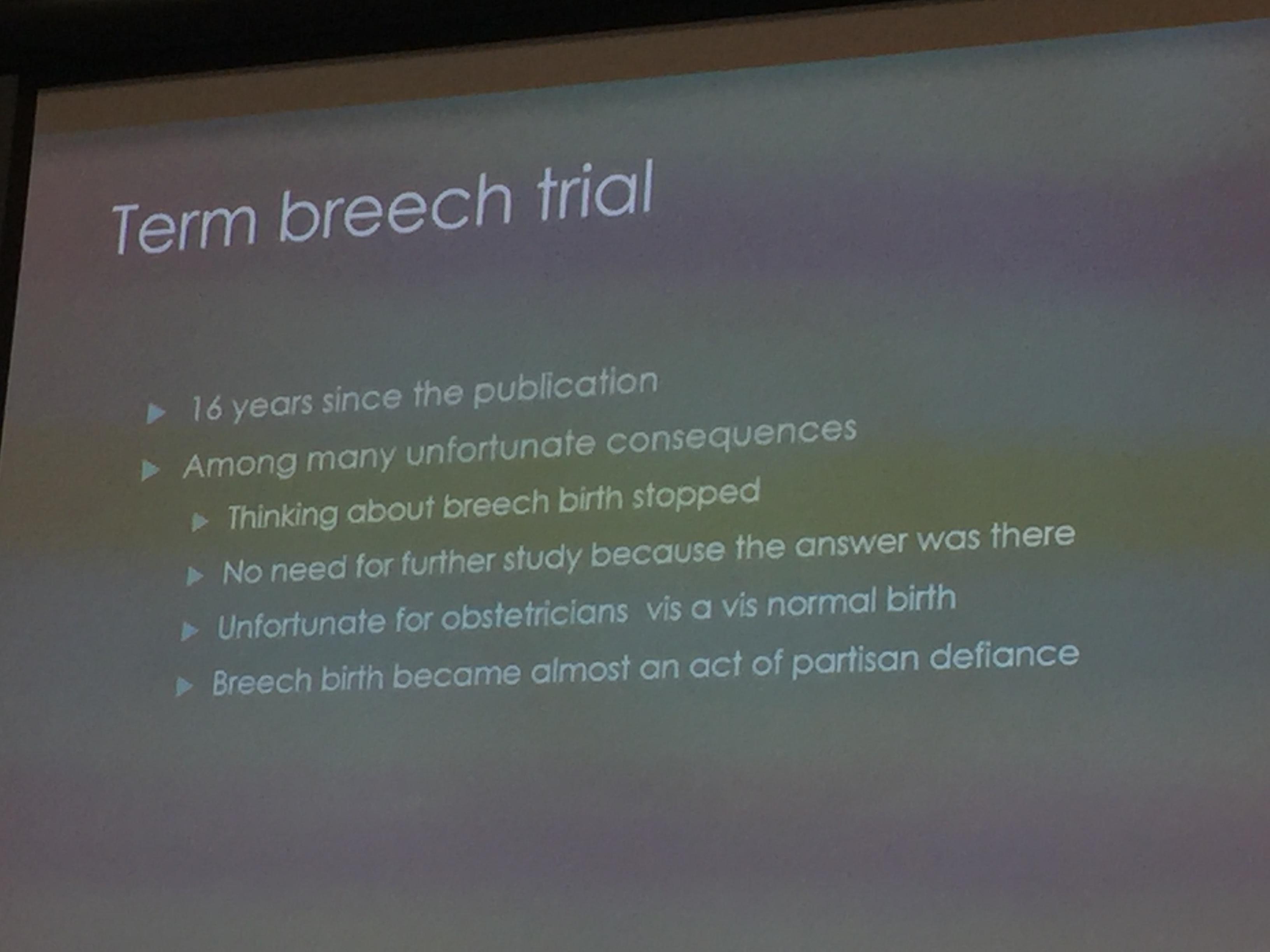 Bringing Back Breech Birth