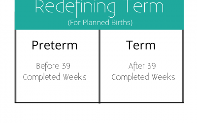 Every Week Really Does Matter: Redefining Term For Planned Births